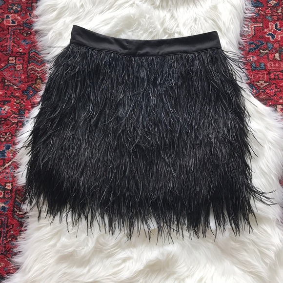 758199652249 ST. studio Skirts | Sale St Studio Black Feather Skirt | Poshmark